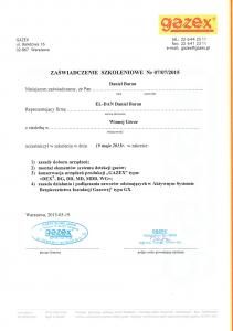 Certyfikat-GAZEX