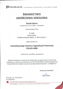 Certyfikat-Polon-4000-el-dan